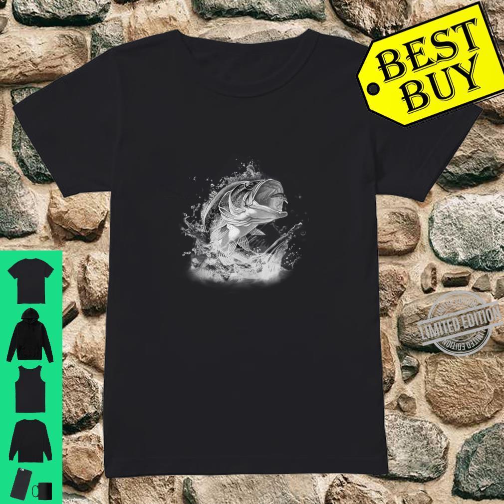 Large Mouth Bass Fishing Unisex Shirt ladies tee