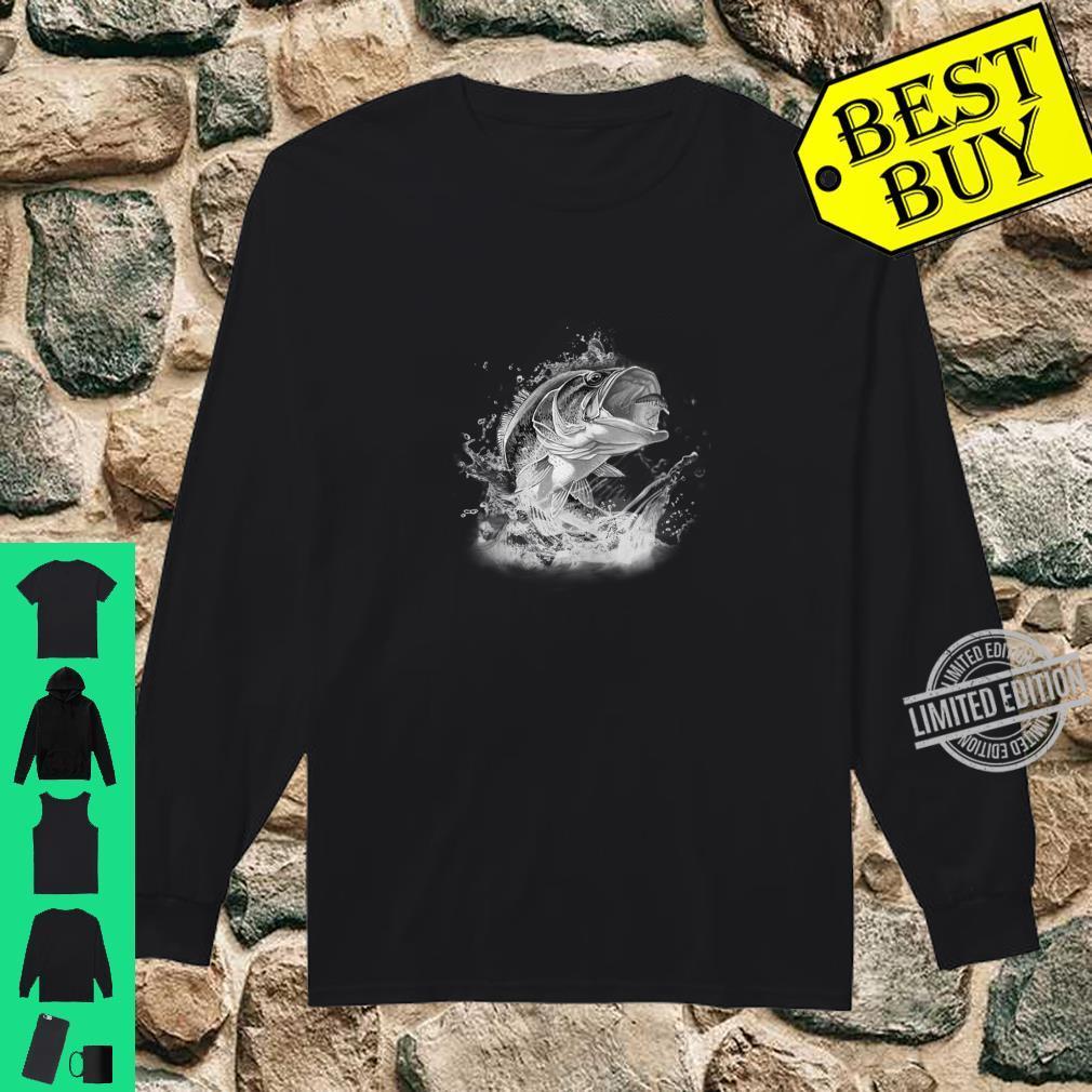 Large Mouth Bass Fishing Unisex Shirt long sleeved