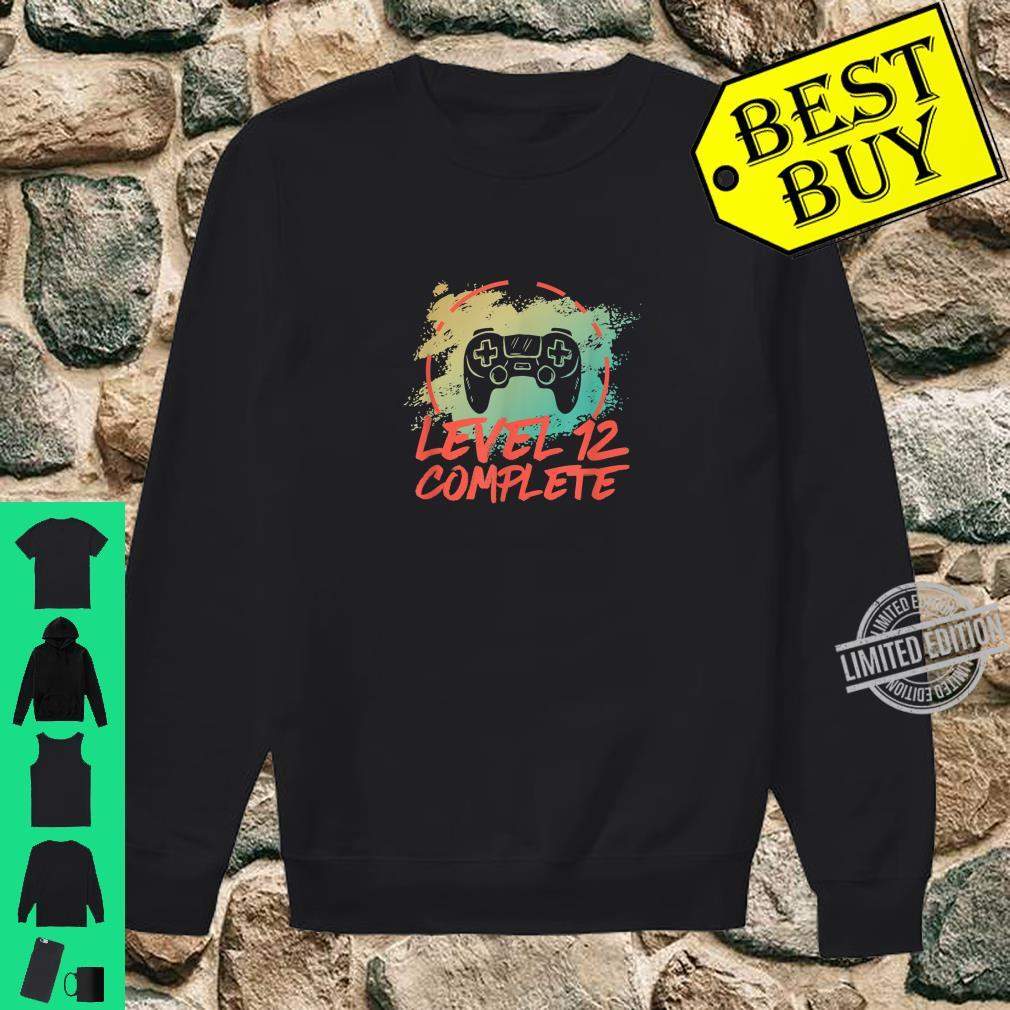 Level 12 Complete Vintage 12th Wedding Anniversary Shirt sweater