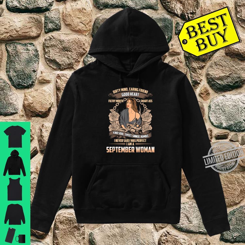September Birthday Biker Chick Dirty Sweet Sinner Shirt hoodie