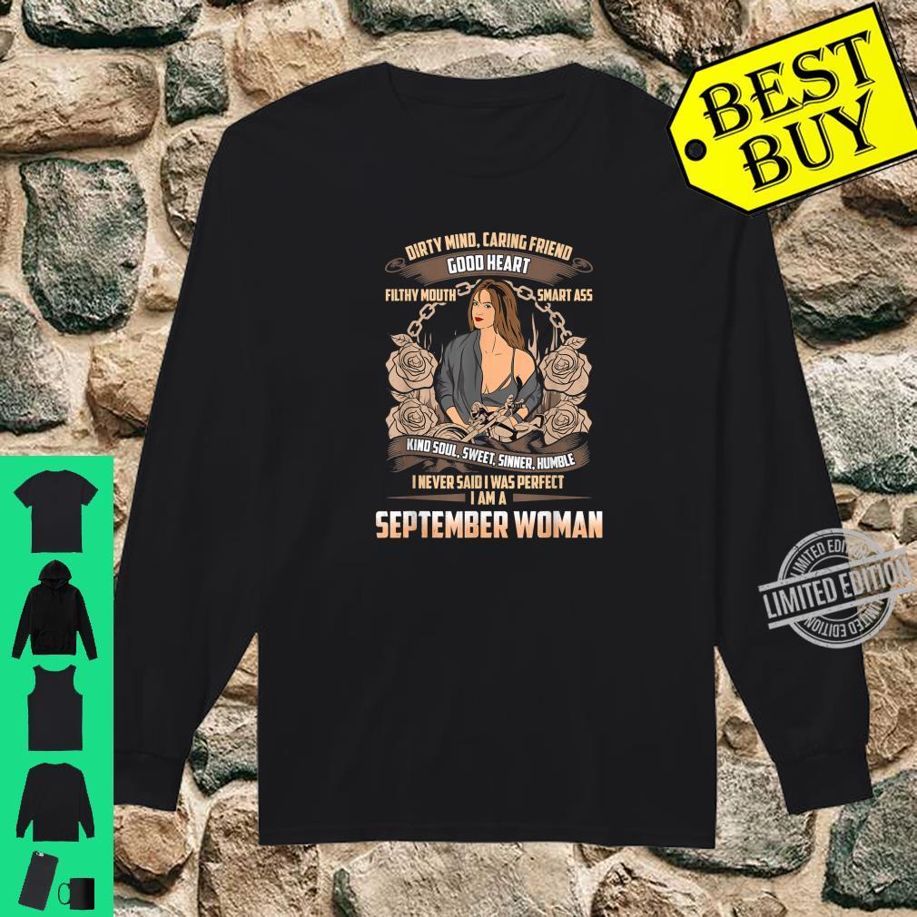 September Birthday Biker Chick Dirty Sweet Sinner Shirt long sleeved