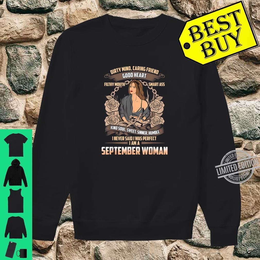 September Birthday Biker Chick Dirty Sweet Sinner Shirt sweater