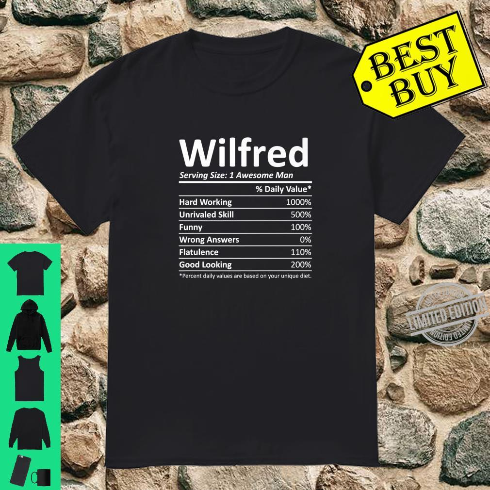WILFRED Nutrition Birthday Personalized Name Idea Shirt
