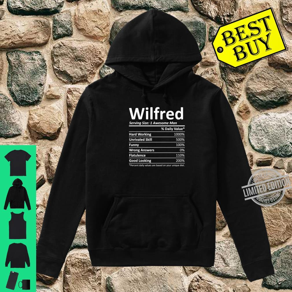 WILFRED Nutrition Birthday Personalized Name Idea Shirt hoodie