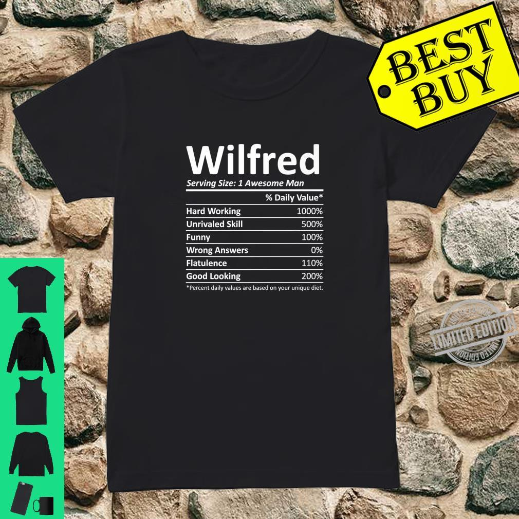 WILFRED Nutrition Birthday Personalized Name Idea Shirt ladies tee