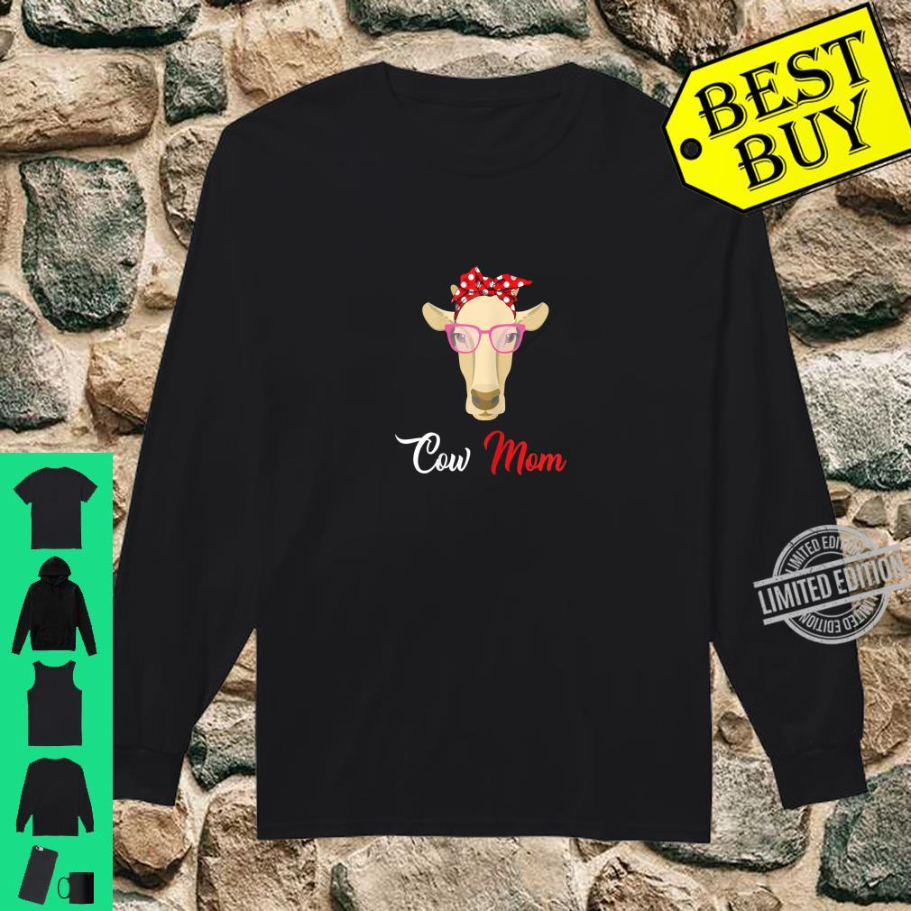Womens Cow Mom For Mother's Day Shirt long sleeved